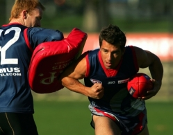 AFL 2004 Media - Melbourne Training 010704