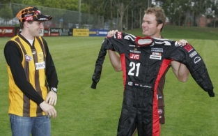 AFL 2005 Media - Formula Grand Prix Driver Visits Hawthorn 250205