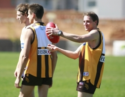 AFL Hawthorn Training With Formula One Drivers