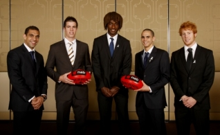 AFL 2010 Media - NAB Rising Star Awards 010910