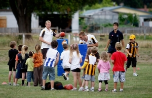 AFL 2011 Media - Hawthorn Community Camp 020211