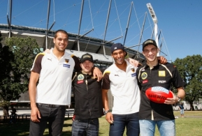 AFL 2011 Media - Hawthorn players meet F1 drivers