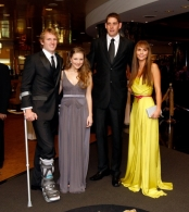 AFL 2011 Media - Brownlow Medal Blue Carpet