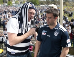 AFL 2011 Media - Geelong Presents Premiership Cup To Fans