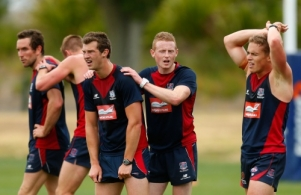 AFL 2012 Media - Melbourne Training and Draftees