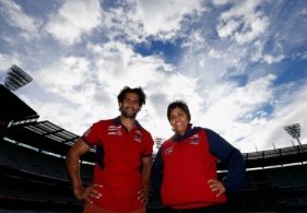 AFL 2013 Media - Aaron and Bronwyn Davey Press Conference