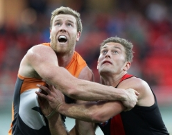 AFL 2013 Rd 17 - GWS Giants v Essendon