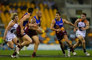 AFL 2013 Rd 21 - Brisbane v GWS Giants