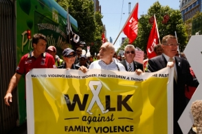 AFL 2013 Media - MFC Walk Against Family Violence