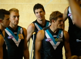 AFL 2014 Media - Port Adelaide Team Photo Day