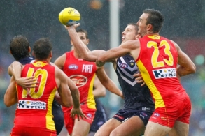 AFL 2014 Rd 02 - Fremantle v Gold Coast
