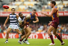AFL 2014 Rd 02 - Brisbane v Geelong