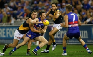 AFL 2014 Rd 03 - Western Bulldogs v Richmond