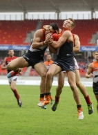 AFL 2014 Rd 03 - GWS Giants v Melbourne