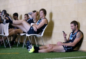 AFL 2016 Media - Port Adelaide Team Photo Day