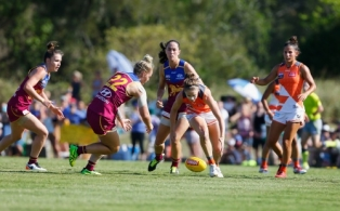 AFLW 2017 Rd 04 - Brisbane v GWS Giants