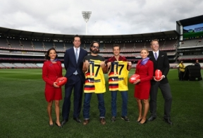 AFL 2017 Media - AFL CEO Gillon McLachlan and The Killers Press Conference