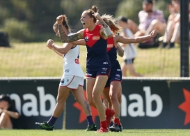 AFLW 2019 Rd 01 - Melbourne v Fremantle