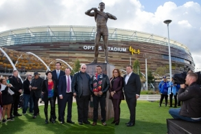 AFL 2019 Media - Nicky Winmar Statue Unveiling