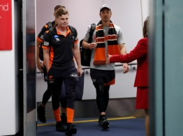 AFL 2019 Media - GWS Arrive in Melbourne