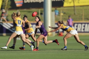 AFLW 2020 Training - Fremantle v West Coast Practice Match