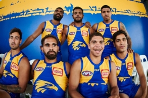 AFL 2020 Media - West Coast Team Photo Day