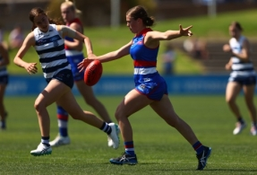 AFLW 2020 Training - Western Bulldogs v Geelong Practice Match