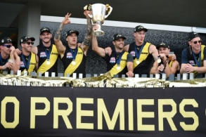 AFL 2020 Media - Richmond Celebrations 251020