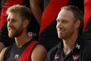 AFL 2021 Media - Essendon Team Photo Day