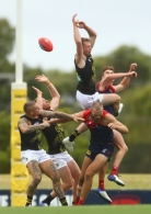 AFL 2021 Training - Melbourne v Richmond Practice Match