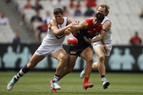 AFL 2021 Round 01 - Melbourne v Fremantle