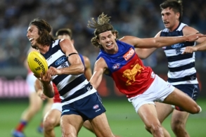 AFL 2021 Round 02 - Geelong v Brisbane
