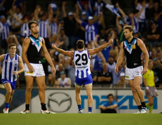 AFL 2014 Rd 03 - North Melbourne v Port Adelaide