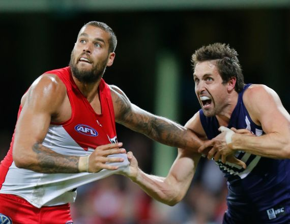 AFL 2014 Rd 05 - Sydney v Fremantle